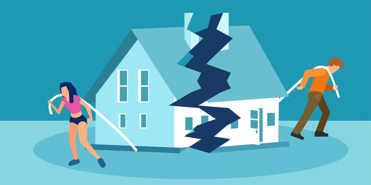 離婚するまで住んでいた家。財産分与はどうなる?
