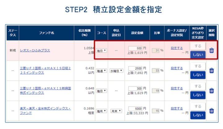 積立NISAの注文方法解説!4