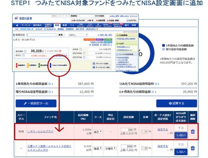 積立NISAの注文方法解説!3