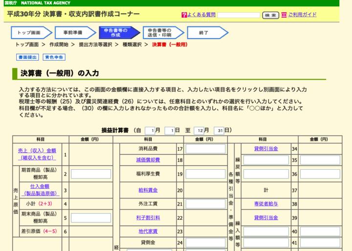青色決算書・収支内訳書の作成(事業所得・不動産所得のある人のみ)4
