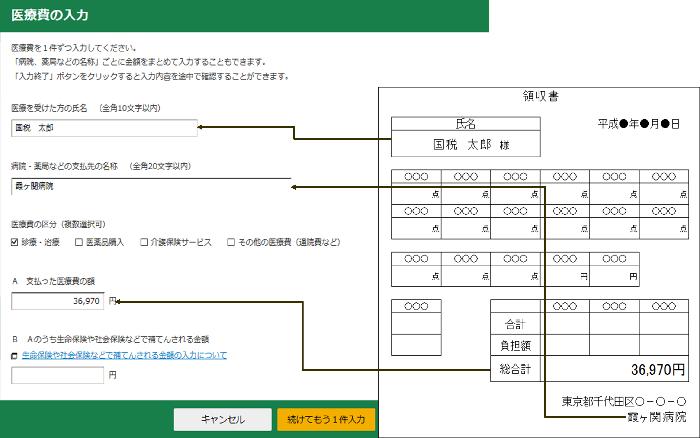 入力方法(1)領収書をもとに1件ずつ入力する方法3