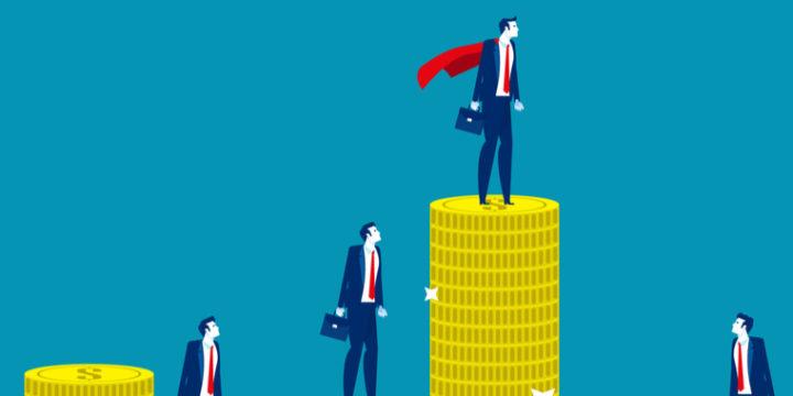 年収700万円台の割合は男性6.4%、女性1.5%